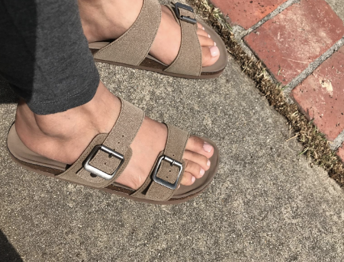 532ee6f937 13. Madden Girl's slide-on sandals as an affordable alternative to  Birkenstocks. They have padded footbeds to keep your toes from feeling  pinched and ...