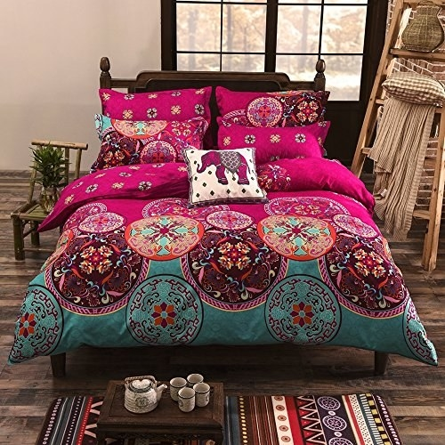 A Boho Duvet Cover Perfect For Your First Dorm Room.