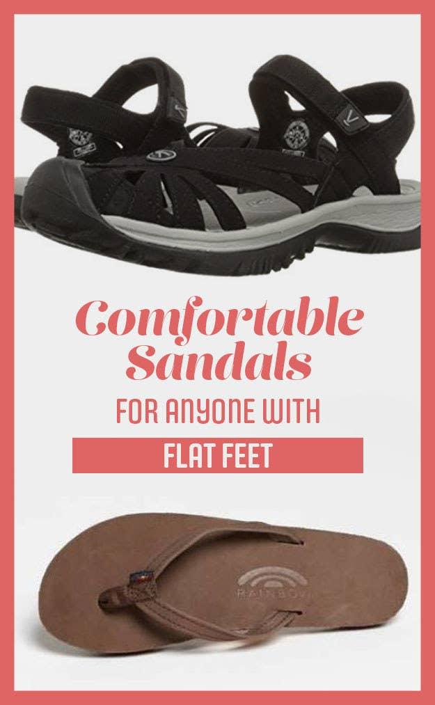 608683ce0a 21 Ridiculously Comfortable Sandals For Anyone With Flat Feet