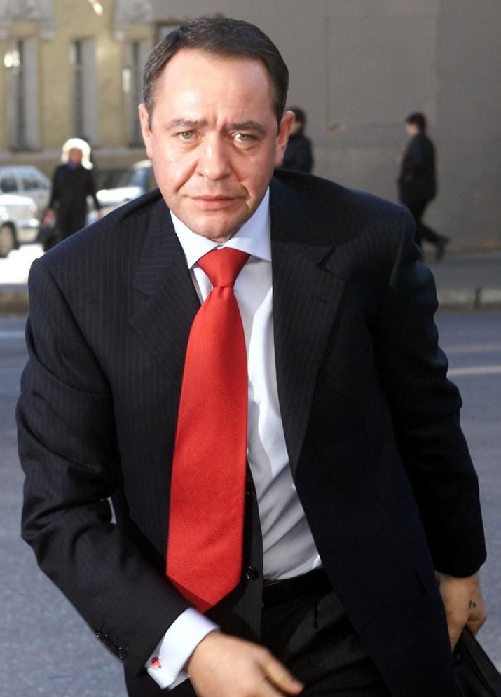 Mikhail Lesin in Moscow in 2002.