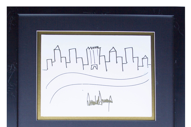 A Drawing By Donald Trump Of New York's Skyline Just Sold For $29,184