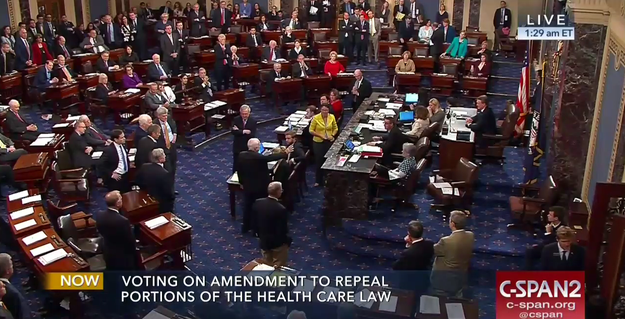 "Republicans failed to pass their last-ditch effort to repeal and replace Obamacare on Thursday night in a middle-of-the-night showdown that ended with Senator John McCain breaking away from his party and voting ""no."" Republicans couldn't lose more than two votes, and McCain was the third voting against the bill, killing it 49-51."