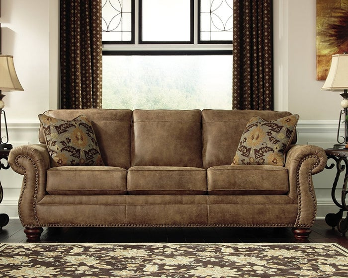"""Promising Review: """"Wow, what a deal on a beautiful sofa. We bought this for our cabin. Delivered and installed in our home — they even took all the protective coverings. You can fall asleep on this sofa and dream. You'll think it's made of the finest materials, as it's soft and plush. So happy we bought it."""" —DemetriosPrice: $524.99"""