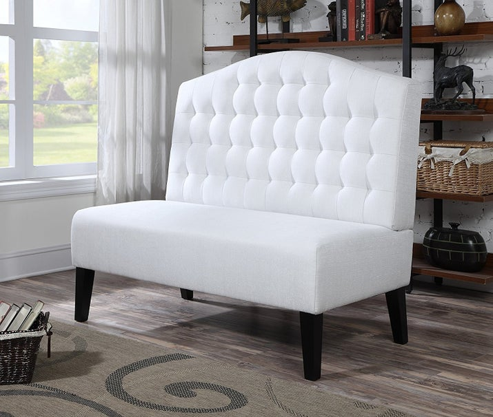 "Promising Review: ""Love this couch, I get so many compliments on it. The color is a bit darker then pictured. Very easy to assemble."" —Sarah FunkPrice: $275.43"