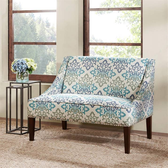 "Promising Review: ""Cute pattern, fresh colors, and great size for some extra seating. Cushions are firm, but comfortable. Good value for the price."" —California momPrice: $330.65+ (available in two styles)"