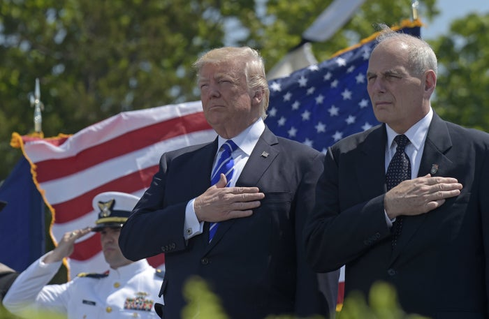 President Donald Trump and Homeland Security Secretary John Kelly in May.