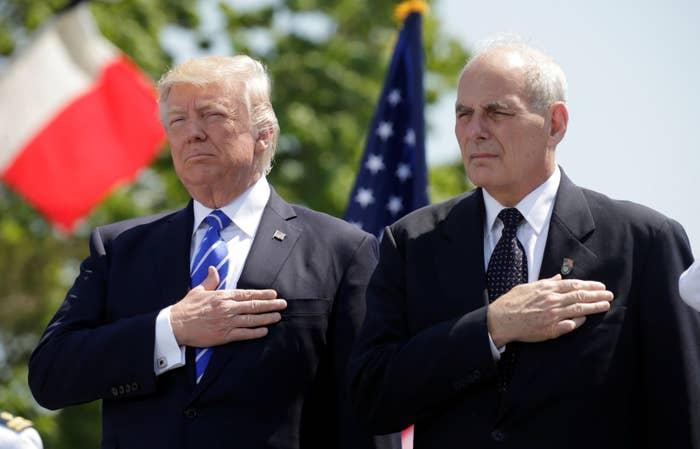 President Donald Trump with Homeland Security Secretary John Kelly in May.