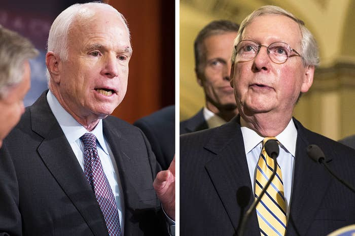 John McCain (left) and Mitch McConnell