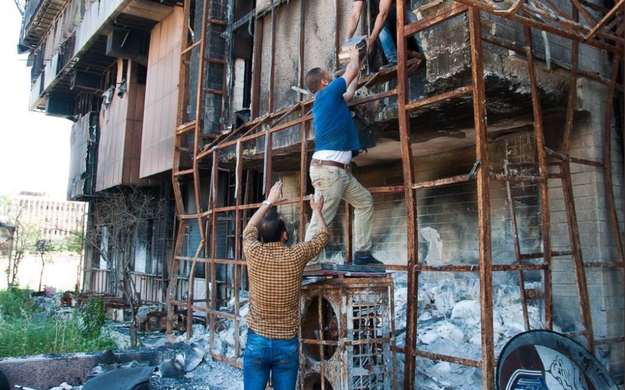 As soon as the part of the city where the university was located was liberated in January, Mosul Eye said, a group of local volunteers went to the library to save whatever had not been destroyed.