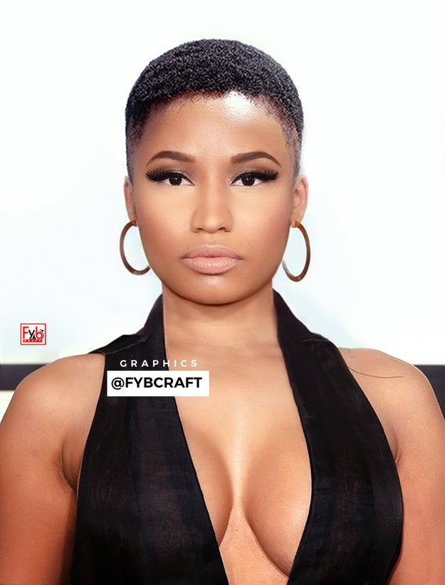 The series also includes Nicki, whose low-cut fade is absolute perfection...