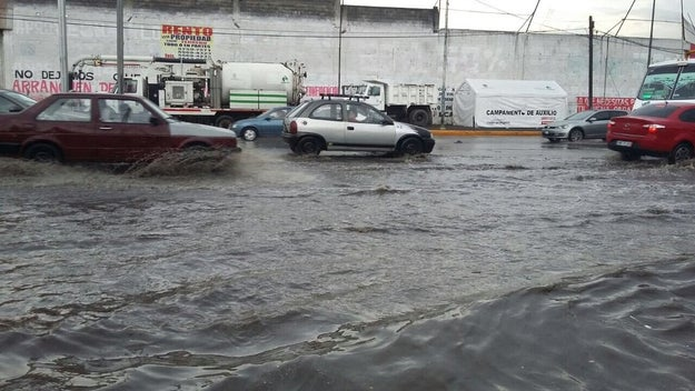 La reciente temporada de lluvias hizo ríos de las calles del Estado de México.