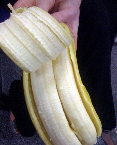 This creepy double banana: