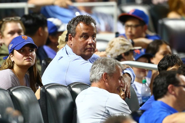 New Jersey Gov. Chris Christie on Sunday attended a baseball game between the Brewers and the Cubs at Miller Park in Milwaukee, Wisconsin. Fun!