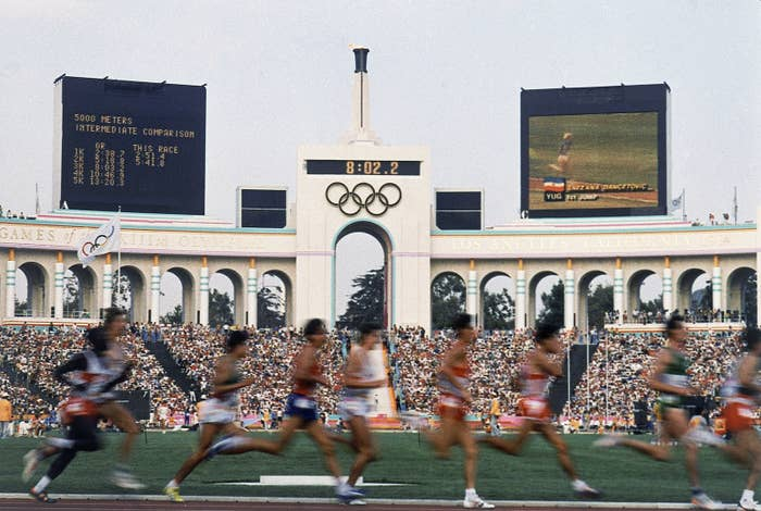 The Men's 5,000-meter event at the 1984 Summer Olympic Games in Los Angeles.