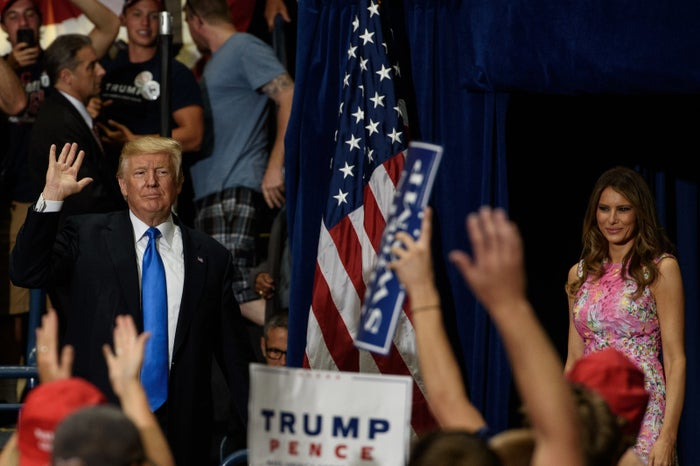 President Donald Trump and first lady Melania Trump at a campaign rally last week in Youngstown, Ohio.
