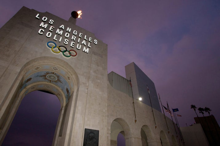 The Los Angeles Memorial Coliseum in Los Angeles.