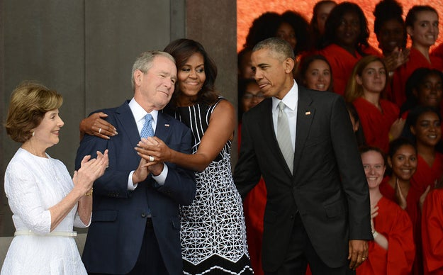 President Obama and President Bush are 10th cousins.