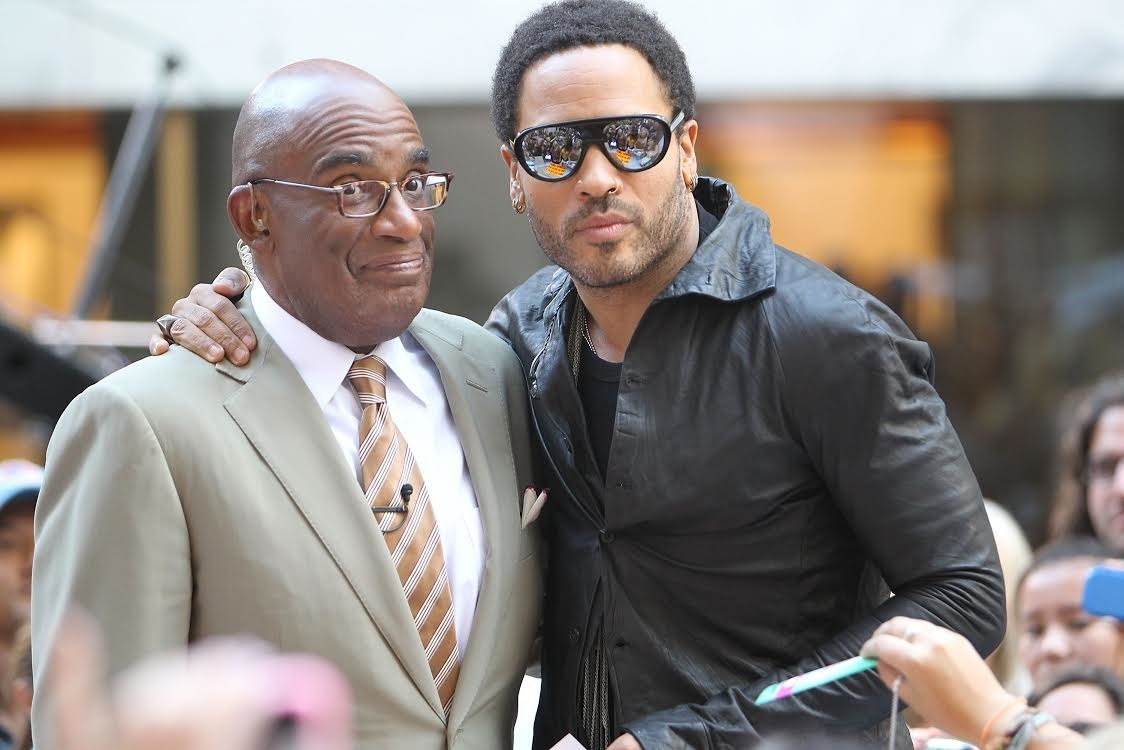 al roker and lenny hugging it out