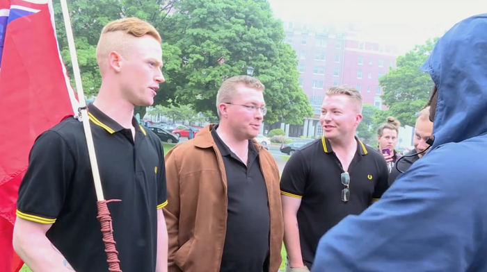 """General Jonathan Vance, Chief of Defence Staff, said the men """"could face severe consequences, including release from the forces.""""Four of the men are in the Canadian Navy, and the other is in the Canadian Army. """"Their future in the miltary is certainly in doubt,"""" Vance said in a statement.The men identified themselves as part of the Proud Boys, a far-right men's group whose members describe themselves as """"Western chauvinists."""" The group's Facebook page regularly includes anti-Muslim, anti-feminist, anti-trans, and anti-Indigenous links and commentary."""