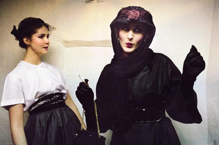 Jill and friend, Blitz Club, Covent Garden, 1980