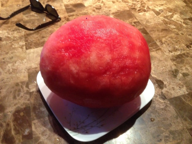 """This peeled watermelon that will make you say """"idk how I feel about this""""."""