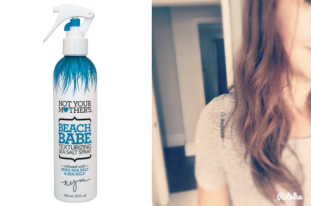 """If you're looking to control your fly-aways and get some beachy waves at the same time, look no further than a solid sea salt spray. While not ideal for everyday use (the salt dries out hair), it's a great solution for days when your hair simply won't cooperate. Not Your Mother's Beach Babe is a popular choice thanks to its reliable results. Promising review: """"This product isn't just for people with long hair who want beachy waves. I have short hair and I use it to get texture and volume. It's great. It lasts a long time (that could also be because I have short hair), it smells great, and it doesn't leave a gross residue in your hair like other ones I've tried, where if you run your fingers through your hair, you have a gross feeling on your fingers. It's a great price, and I think a great product!"""" —Amazon CustomerGet it from Target for $3.76 or on Amazon in banana scent for $3.87."""
