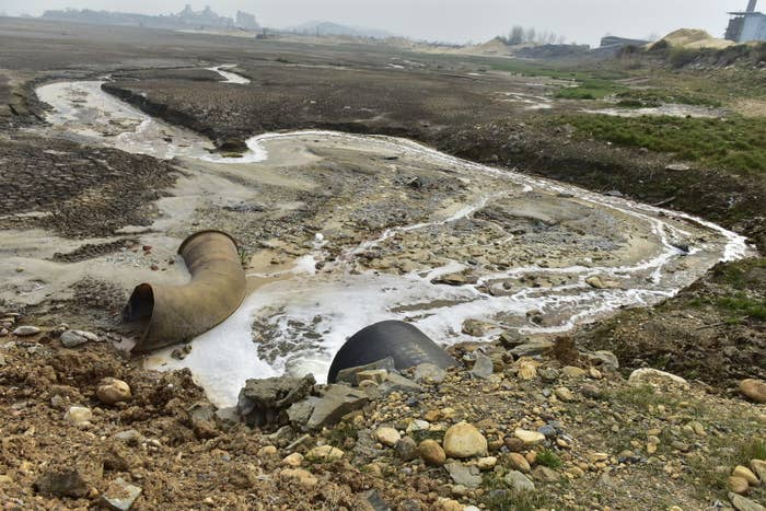 Wastewater found by researchers near viscose plants in China.