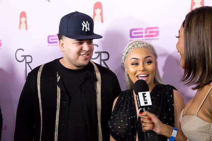 Rob Kardashian and Blac Chyna arrive at her birthday in Hollywood in 2016.