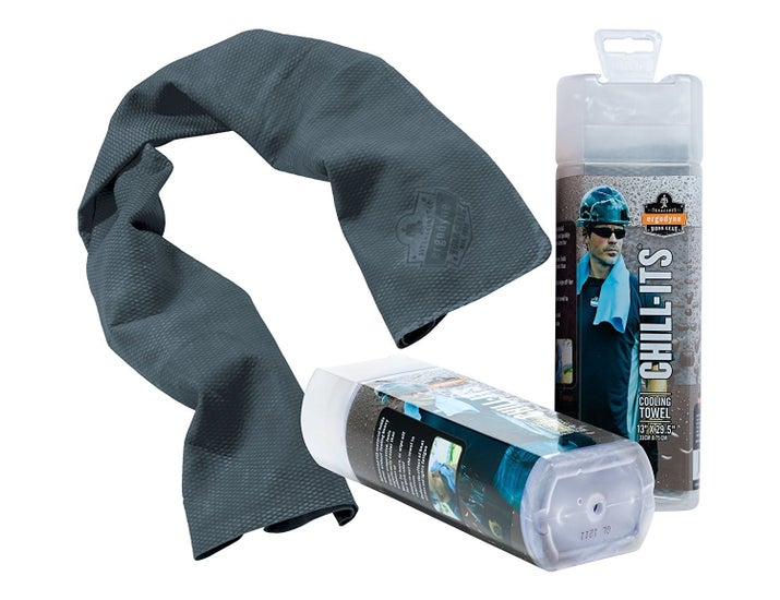"""Promising review: """"What a lifesaver. My apartment is on the top floor and is not air-conditioned, and we've been having humid, 100+ degree weather — I would not survive without this towel. Yes, it's refreshing if you just drape as is on your neck or arm, but if you want your body temperature to plummet, here's what you do: pour some cold water on it, *barely* wring it out, (it can be saturated and it still won't drip), and then lay it on your chest/stomach or lie down on it. It works best when it's flat on your skin."""" —HanceGet it from Amazon for $6.99 (available in five colors)."""