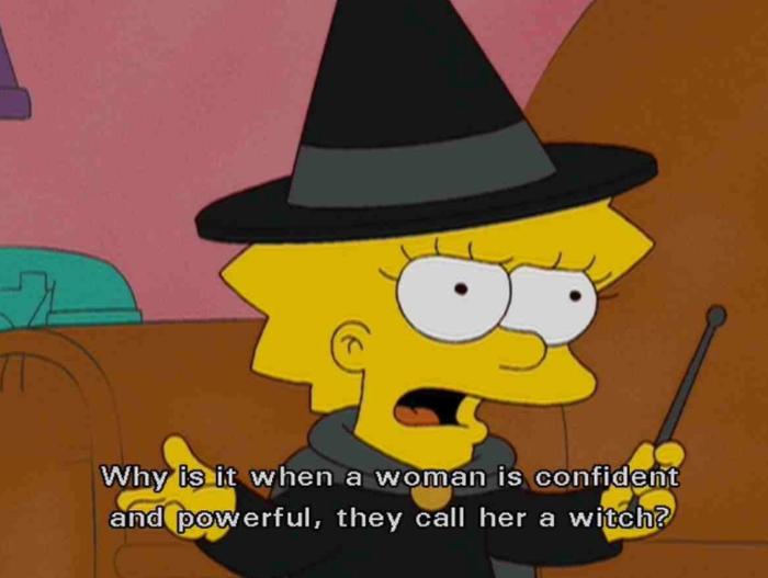 """""""Por que quando uma mulher tem autoconfiança e é poderosa, ela é chamada de bruxa?"""""""