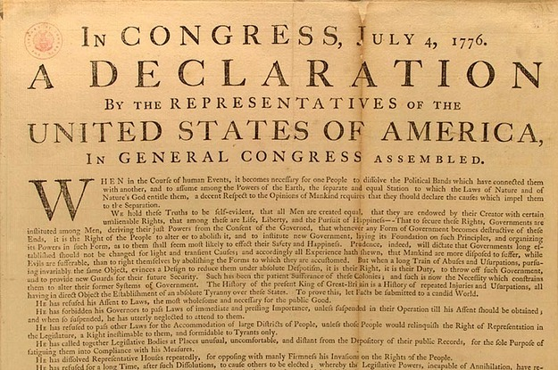 an analysis of the political documents effect on the american declaration of independence or the fre