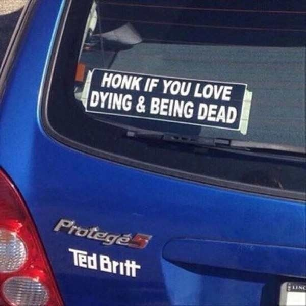 The perfect sticker to spread a little joy on the road
