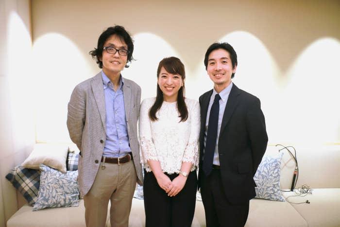 勝俣範之さん(左)、鈴木美穂さん(中央)、津川友介さん(右)。