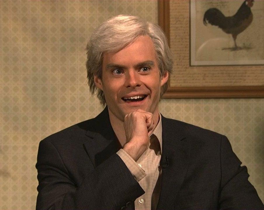 Bill Hader impersonates Morrison on SNL.