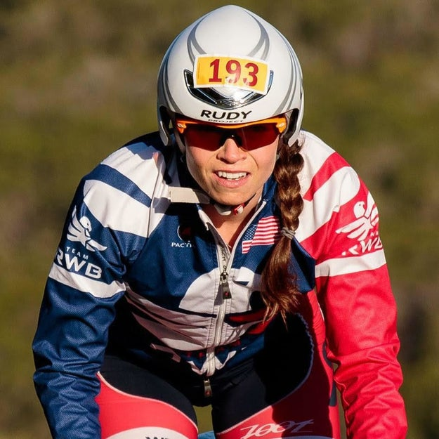 This is my sister, Caroline, eight-time Ironman.