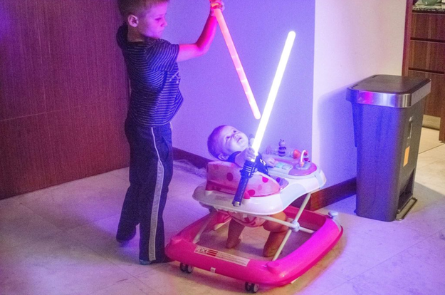"As soon as her brother handed her the lightsaber, Zelda ""was in awe,"" Smarsh said."