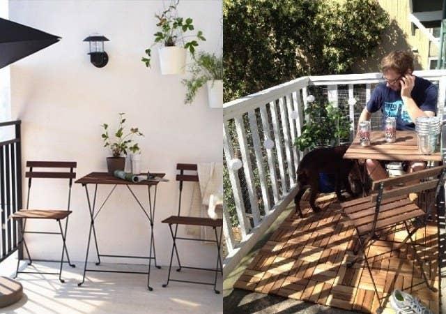ガーデンテーブル・チェアセット(IKEA TARNO)