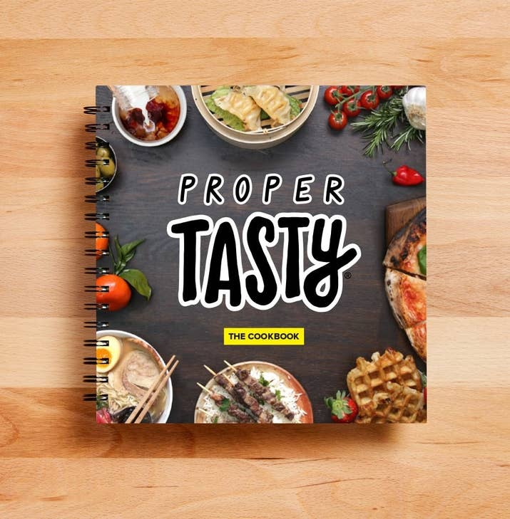 Oh yes you can finally buy the proper tasty cookbook in the uk proper tasty has released a cookbook we hope you love the products we recommend just so you know buzzfeed may forumfinder Choice Image