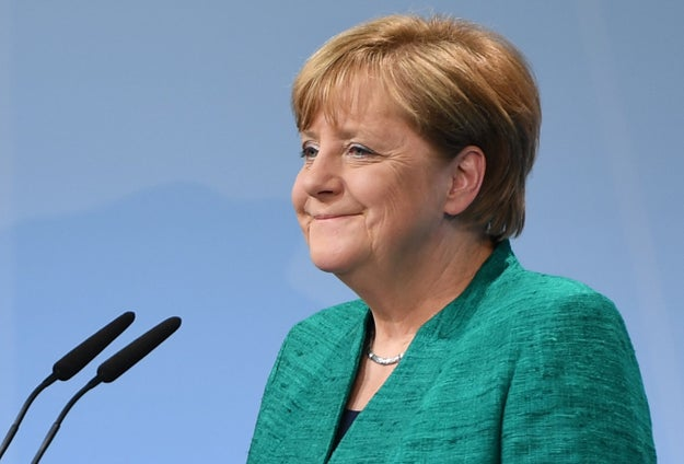 On Saturday, German Chancellor Angela Merkel spoke at the G20 in Hamburg about the Paris climate accord deal.