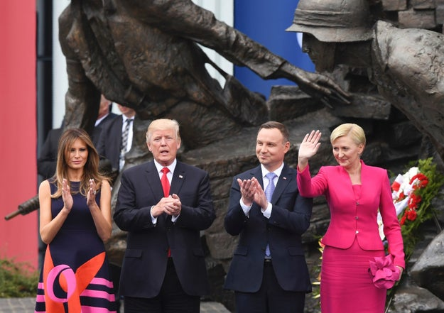 "President Donald Trump apparently now has an international ally in fighting the type of ""fake news"" he rails against. It all started on Thursday, when Trump visited Poland."