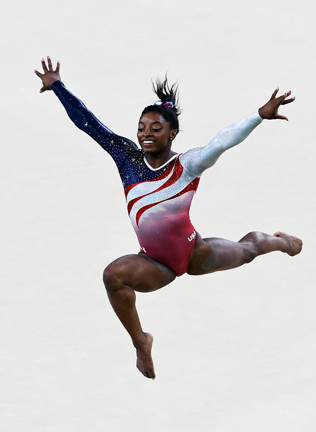 You're familiar with Olympic gold medalist and all-around national treasure Simone Biles.