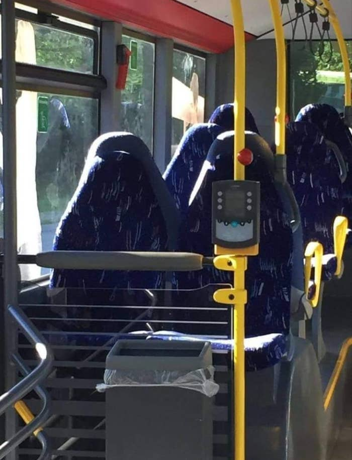 """The group """"Fedrelandet viktigst,"""" which roughly translates to """"Fatherland first,"""" has about 13,000 members and bills itself as a forum for patriotic Norwegians.After someone shared the photo of the empty bus and asked for reactions, the group quickly filled up with vitriolic comments about immigrants and Muslims.""""It looks really scary [and] should be banned,"""" one group member said of the bus seats. """"You can never know who is underneath. Could be terrorists with weapons.""""""""Islam is and will be a curse,"""" wrote another user, adding that Muslims were making Norwegian society worse.""""Tragic,"""" said one person simply."""