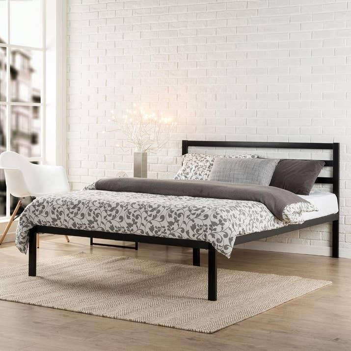 a sleek black design for a contemporary interior with minimal effort - Minimal Bed Frame