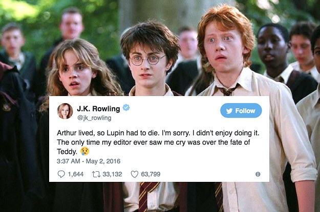 21 Massive Things J K  Rowling Has Revealed About