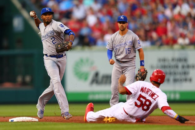 On Wednesday the Kansas City Royals played the St. Louis Cardinals at Busch Stadium in Missouri.