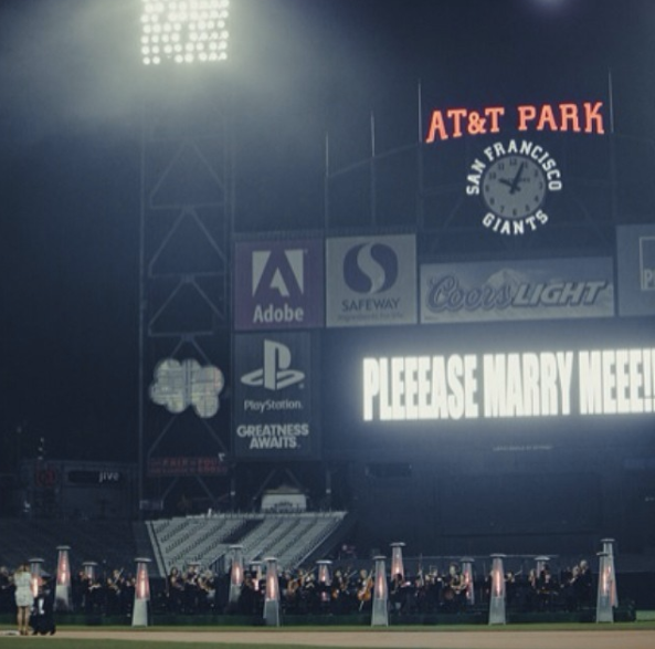 She even rented out an entire baseball stadium for her engagement.