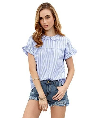 fa9ab376573cfe A Peter Pan collar shirt for a look that never gets old.