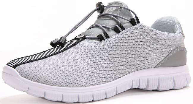 7a34c9a3ce65 Pick up a futuristic AF pair of elastic lace sneakers you can quickly  transition from your workout to a casual night out.