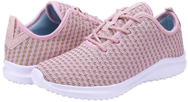 f8ff3f0d0b9bd6 2. Tie up a lightweight pair of mesh sneaks with darling gold threading  woven into them