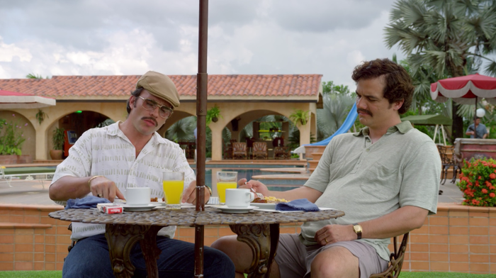 In 1979, Pablo Escobar spent around $63 million for his massive 5,000-acre estate. The property had 24 artificial lakes, an airstrip, helipads, a swimming pool, a 500-seat bullfighting arena, life-size concrete dinosaurs Escobar built for his son, and a private zoo.Narcos was filmed at a separate location because the actual Hacienda Napoles was stripped apart by treasure seekers. After his death, the Colombian government ceded the retreat and valued it at $2.23 million. In 2014, a private company invested $10 million to restore the property and transform it into a theme park — but due to poor construction and serious damage to the buildings, the estate remains abandoned.